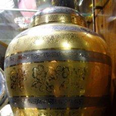 Antigüedades: TIBOR GRABADO AL ACIDO Y A MANO ORO 24 KILATES. BOHEMIA. Lote 104353943