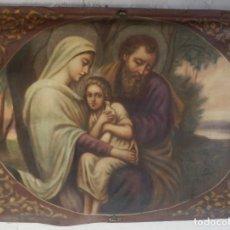 Antigüedades: TAPIZ PPS S XX NACIMIENTO SAGRADA FAMILIA PINTADO A MANO. Lote 104362687