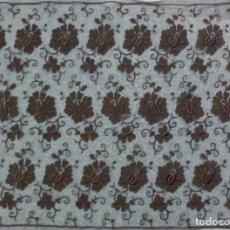 Antigüedades: ANTIGUO ENCAJE BORDADO DE RED - GRAN TAMAÑO S. XIX . Lote 104370651