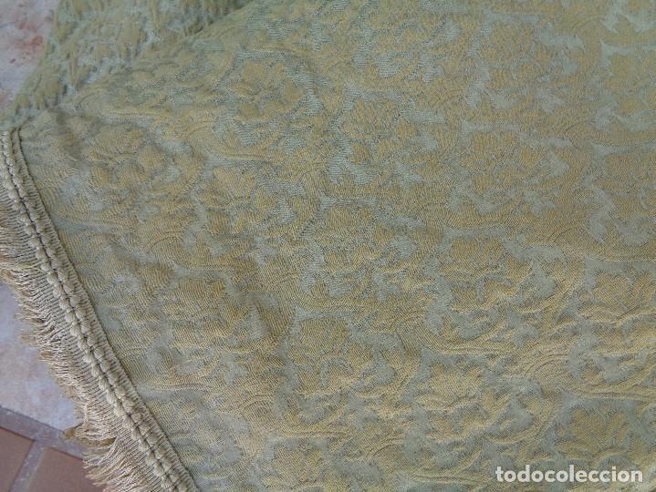 Antigüedades: 2 BONITAS CORTINAS ANTIGUAS EN SEDA BROCADA - Foto 14 - 104376995