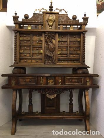 BARGUEÑO CASTELLANO (Antigüedades - Muebles Antiguos - Bargueños Antiguos)