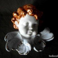 Antigüedades: ANTIGUO ANGELOTE PORCELANA POLICROMADA SANTA RUFINA - ALDAYA - VALENCIA. Lote 104412487