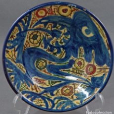 Antigüedades: PLATO ANTIGUO LOZA CERÁMICA MANISES. Lote 104414391