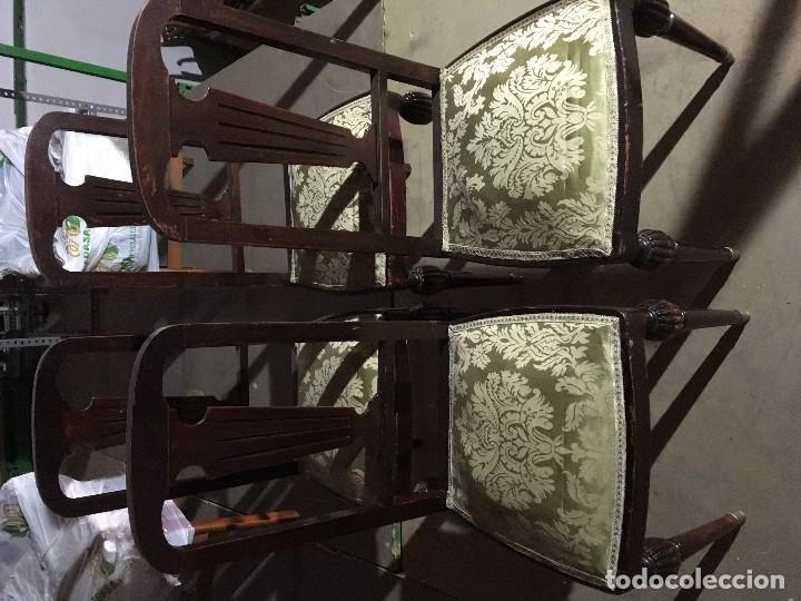 CONJUNTO DE SILLAS Y MESA (Antigüedades - Muebles Antiguos - Sillas Antiguas)