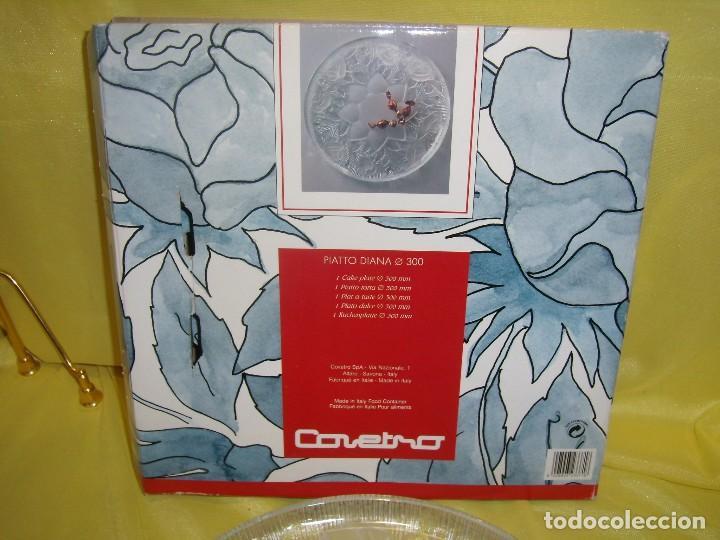 Antigüedades: Bandeja cristal , de Covetro, fabricado en Italia, 30 cm diámetro, años 80, Nueva sin usar. - Foto 5 - 104429235