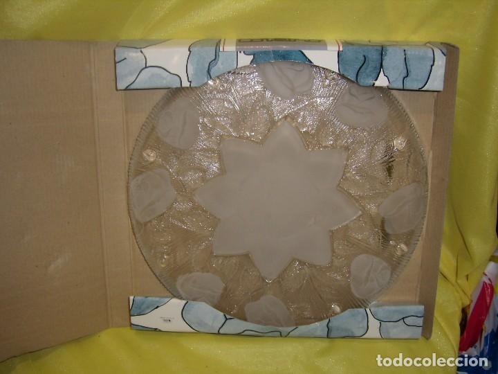 Antigüedades: Bandeja cristal , de Covetro, fabricado en Italia, 30 cm diámetro, años 80, Nueva sin usar. - Foto 6 - 104429235