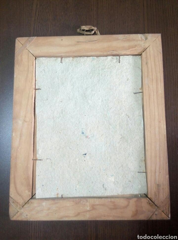 Antigüedades: Grabado coloreado Santa Teresa de Jesús s. XIX marco de madera - Foto 2 - 104442446