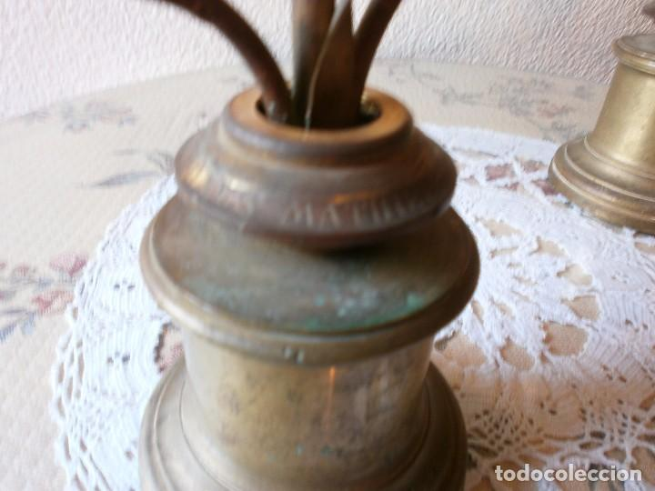 Antigüedades: PAREJA DE CANDELABROS FLORALES FRANCESES EN BRONCE - s. XIX - Foto 4 - 104443239