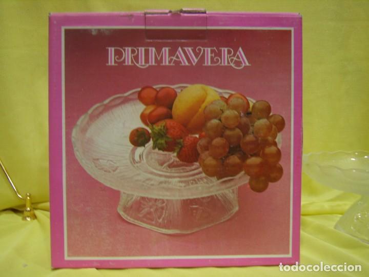 Antigüedades: Centro de mesa, frutero de cristal, fabricado en Italia, años 70, Nuevo sin usar. - Foto 4 - 104452879