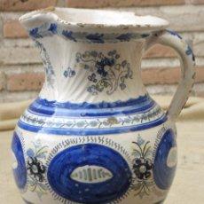 Antigüedades: JARRA ANTIGUA PINTADA Y VIDRIADA DE TALAVERA DE LA REINA ( TOLEDO ) - FIRMADA: SASO.. Lote 104461647