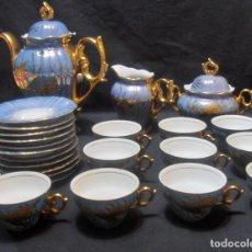 Antigüedades: JUEGO DE CAFE ANTIGUO, PINTADO A MANO, 24 PIEZAS. Lote 104473467