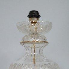 Antigüedades: GRAN LAMPARA SOBREMESA DE CRISTAL DE BOHEMIA. BUEN ESTADO. Lote 104478627
