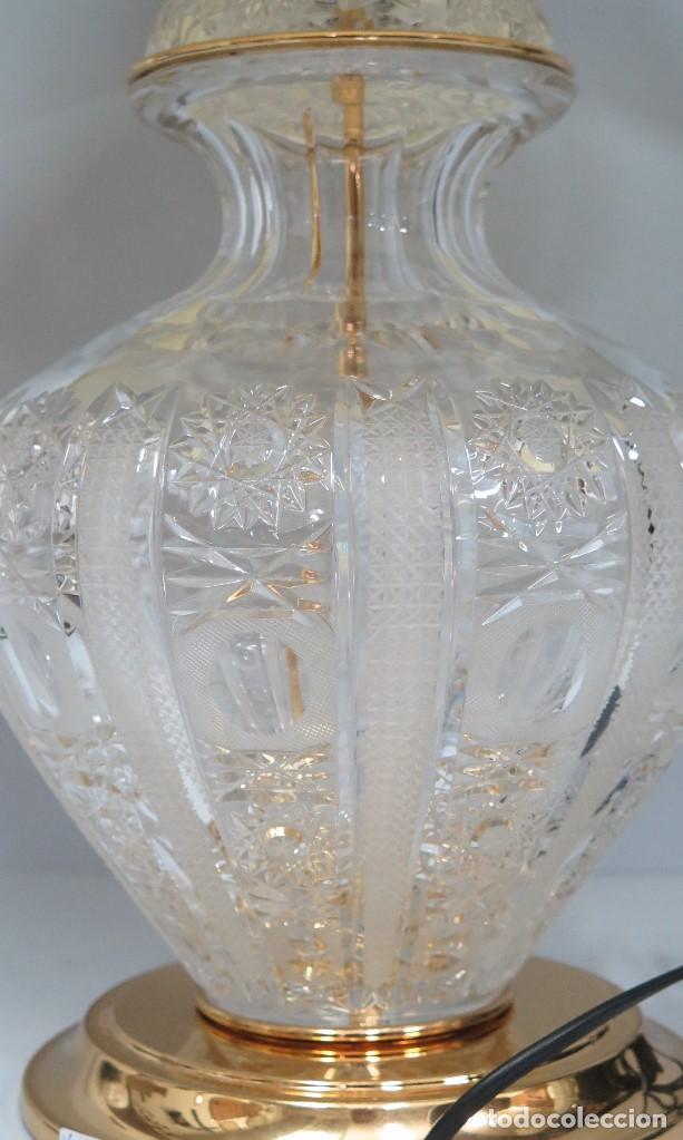 Antigüedades: GRAN LAMPARA SOBREMESA DE CRISTAL DE BOHEMIA. BUEN ESTADO - Foto 2 - 104478627