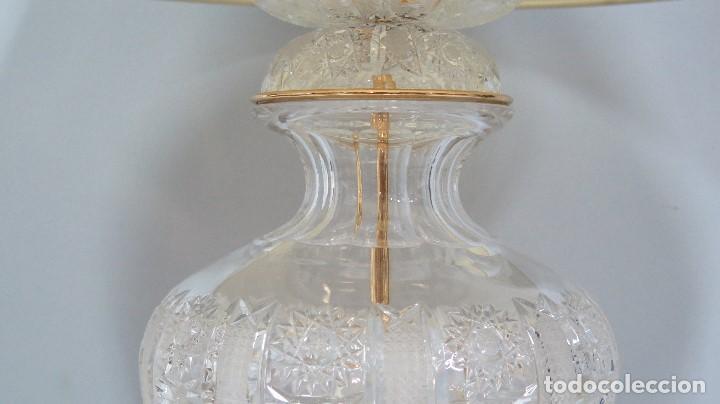 Antigüedades: GRAN LAMPARA SOBREMESA DE CRISTAL DE BOHEMIA. BUEN ESTADO - Foto 3 - 104478627