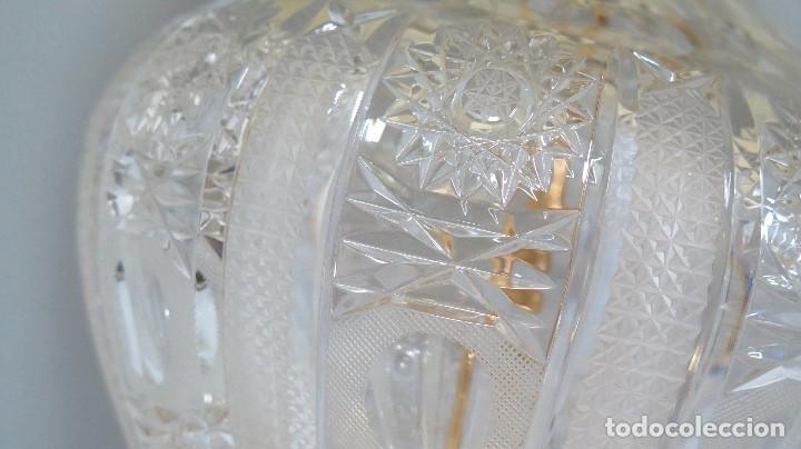 Antigüedades: GRAN LAMPARA SOBREMESA DE CRISTAL DE BOHEMIA. BUEN ESTADO - Foto 4 - 104478627
