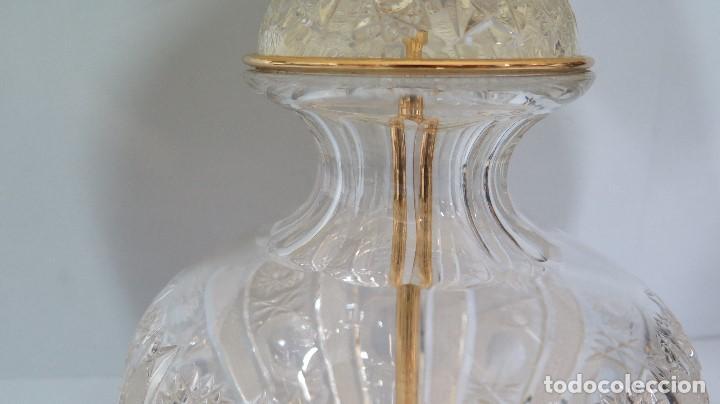Antigüedades: GRAN LAMPARA SOBREMESA DE CRISTAL DE BOHEMIA. BUEN ESTADO - Foto 6 - 104478627