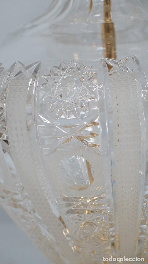 Antigüedades: GRAN LAMPARA SOBREMESA DE CRISTAL DE BOHEMIA. BUEN ESTADO - Foto 7 - 104478627