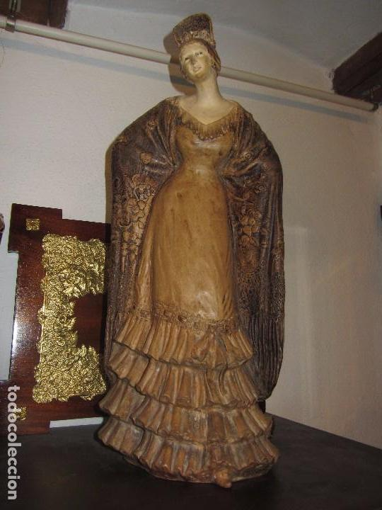 ESCULTURA TERRACOTA ANTONIO PEYRO MEZQUITA - SEVILLANA - ANDALUZA - (Antigüedades - Porcelanas y Cerámicas - Otras)
