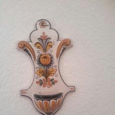 Antigüedades: ANTIGUA BENDITERA DE CERÁMICA DE TALAVERA. Lote 104518635