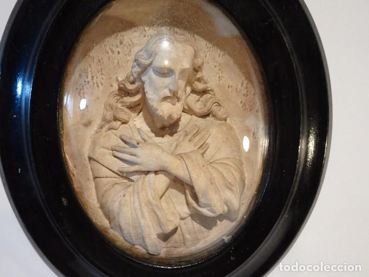 cuadro calcareo jesus vidrio convexo siglo xix - Comprar Ornamentos ...
