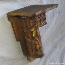 Antigüedades: ANTIGUA MÉNSULA DE MADERA DORADA. Lote 104546211