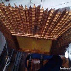 Antiguidades: LAMPARA TECHO MADERA. Lote 104547059