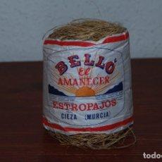 Antigüedades: ANTIGUO ESTROPAJO EL AMANECER - FABRICANTE BELLÓ - CIEZA, MURCIA. Lote 104549779