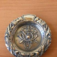Antigüedades: CENICERO DE PLATA DE LEY.. Lote 104555018