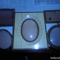Antigüedades: PRECIOSO LOTE 5 PORTAFOTOS PEQUEÑOS ANTIGUOS. Lote 104591671