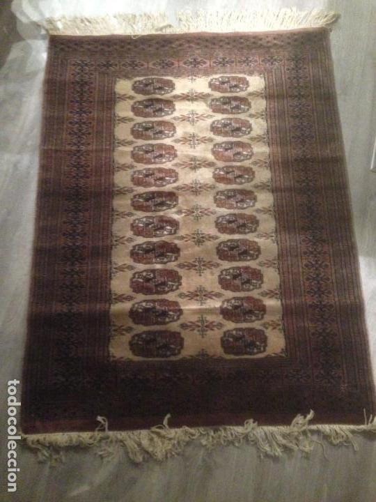 Antigüedades: Alfombra anudada a mano, pakistan,máxima calidad, en perfecto estado - Foto 3 - 104596399