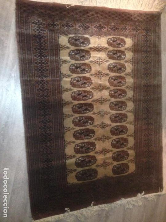 Antigüedades: Alfombra anudada a mano, pakistan,máxima calidad, en perfecto estado - Foto 5 - 104596399
