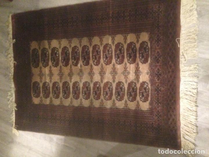 Antigüedades: Alfombra anudada a mano, pakistan,máxima calidad, en perfecto estado - Foto 4 - 104596399