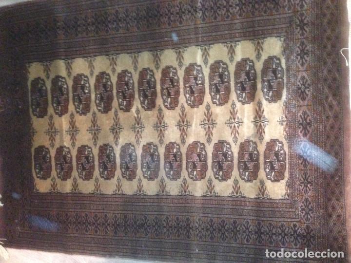 Antigüedades: Alfombra anudada a mano, pakistan,máxima calidad, en perfecto estado - Foto 6 - 104596399