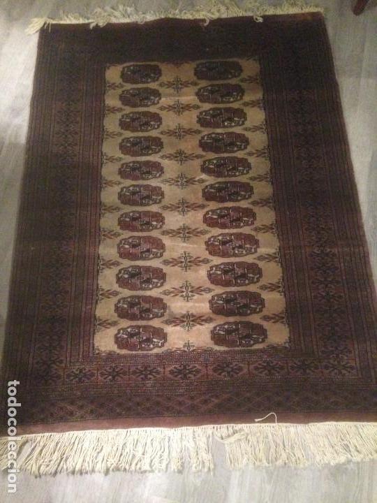 Antigüedades: Alfombra anudada a mano, pakistan,máxima calidad, en perfecto estado - Foto 2 - 104596399