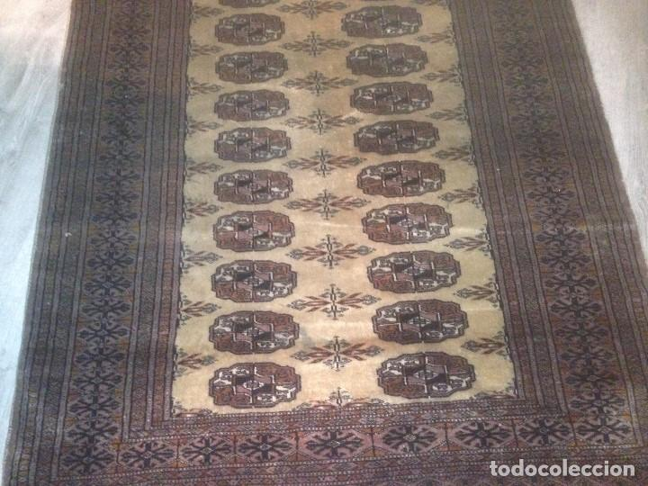 Antigüedades: Alfombra anudada a mano, pakistan,máxima calidad, en perfecto estado - Foto 7 - 104596399