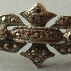 Antigüedades: ANTIGUO BROCHE DE PLATA PUNZÓN PPIO.S.XX. Lote 104612439