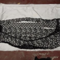 Antigüedades - Mantilla española de seda lasa princ.XX - 104647087
