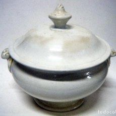 Antigüedades: SOPERA LOZA BLANCA. Lote 104648387