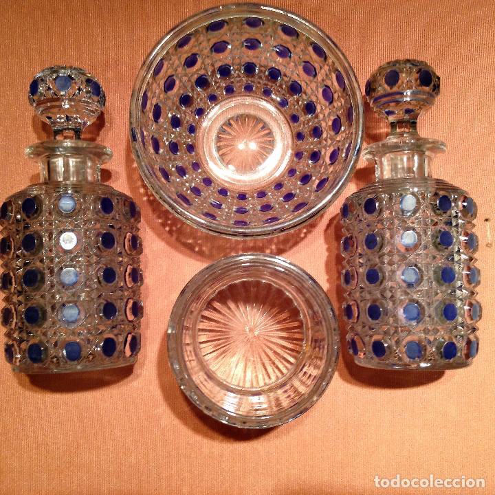 CUATRO PIEZAS DE TOCADOR DE BACCARAT (Antigüedades - Cristal y Vidrio - Baccarat )