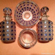 Antigüedades: CUATRO PIEZAS DE TOCADOR DE BACCARAT. Lote 104649843