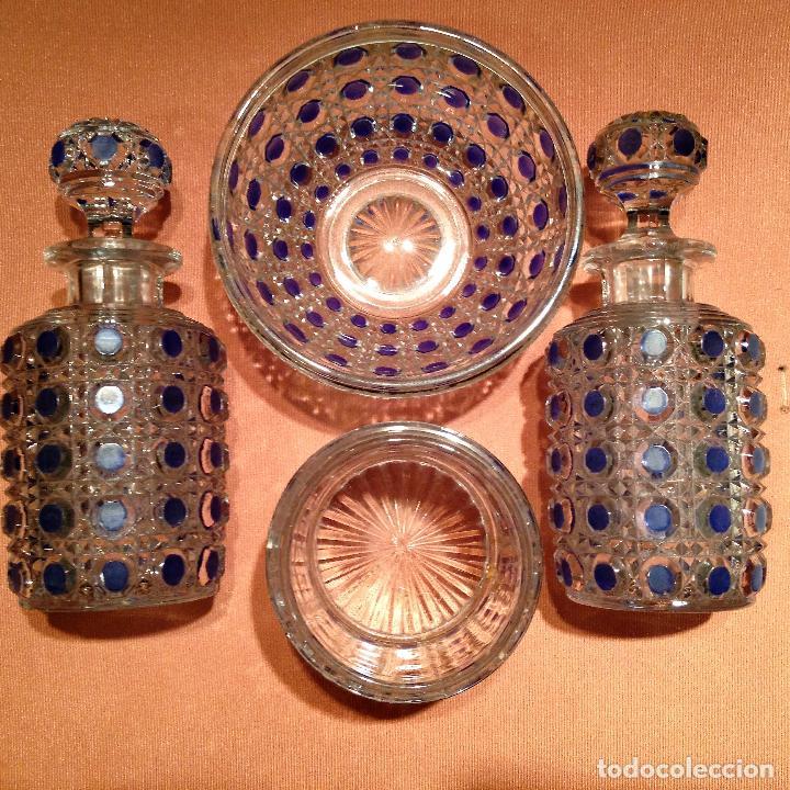Antigüedades: Cuatro piezas de tocador de Baccarat - Foto 2 - 104649843