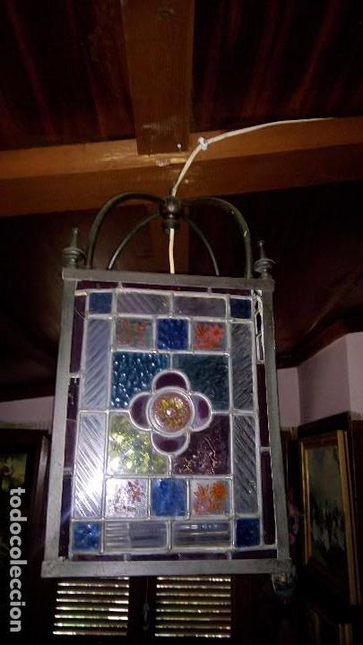 L mpara de techo de cristal de colores emploma comprar - Lamparas de cristal de colores ...