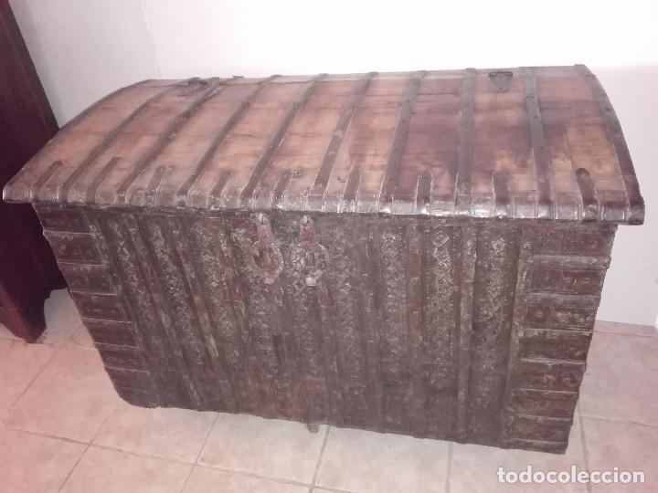 Antigüedades: ARCON INDIO PARA CEREALES, SIGLO XVIII - Foto 4 - 104680619