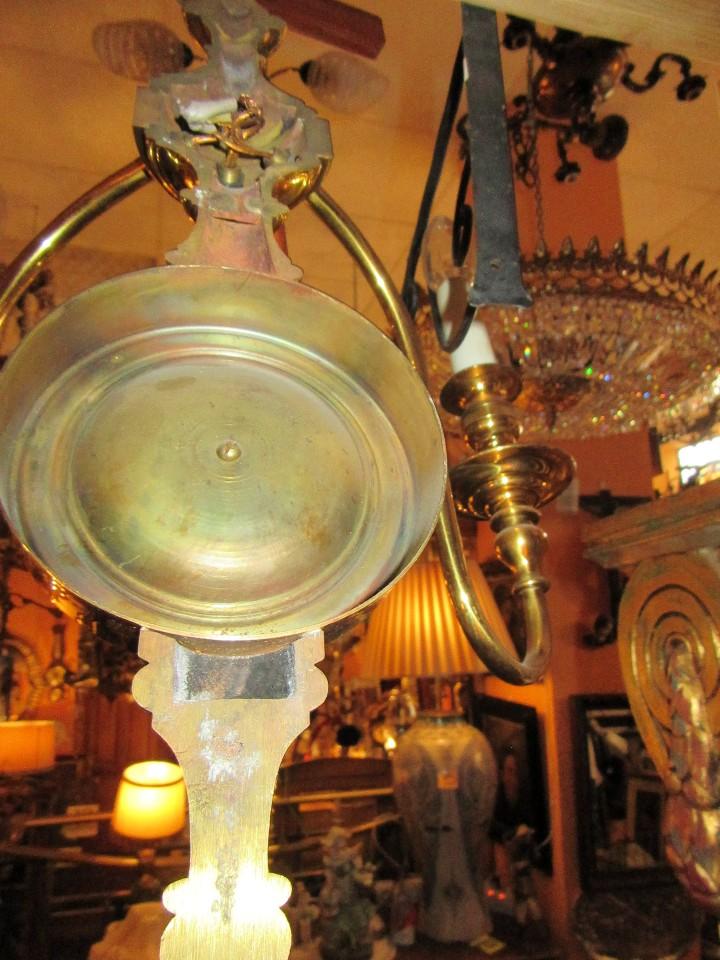 Antigüedades: APLIQUE TRES LUCES - Foto 3 - 26898654