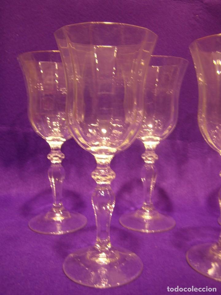 Antigüedades: Copas de agua,filo oro President, 6 uni,de Fidenza idee in Vetro, años 70,Made Italia,Nuevo sin.usar - Foto 3 - 104687231