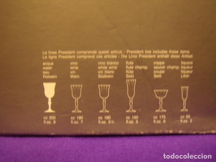 Antigüedades: Copas de agua,filo oro President, 6 uni,de Fidenza idee in Vetro, años 70,Made Italia,Nuevo sin.usar - Foto 8 - 104687231
