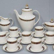 Antigüedades: ELEGANTE JUEG DE CAFE DE PORCELANA ROYAL DOULTON. 12 SERVICIOS. BUEN ESTADO. Lote 104691075