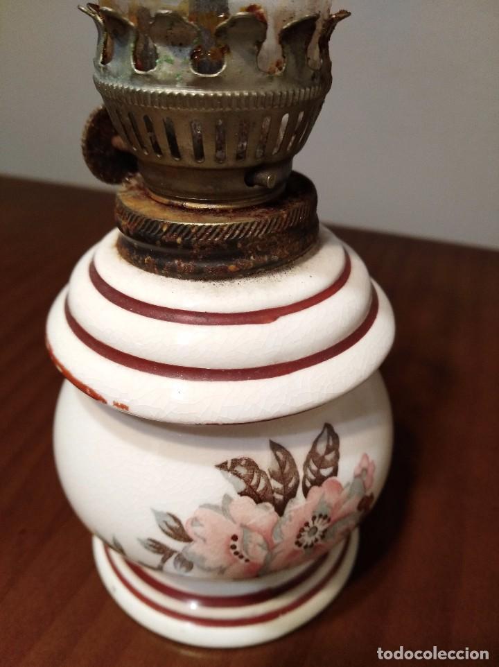 Antigüedades: ANTIGUO QUINQUE CERAMICA JAPONESA - Foto 2 - 104695327