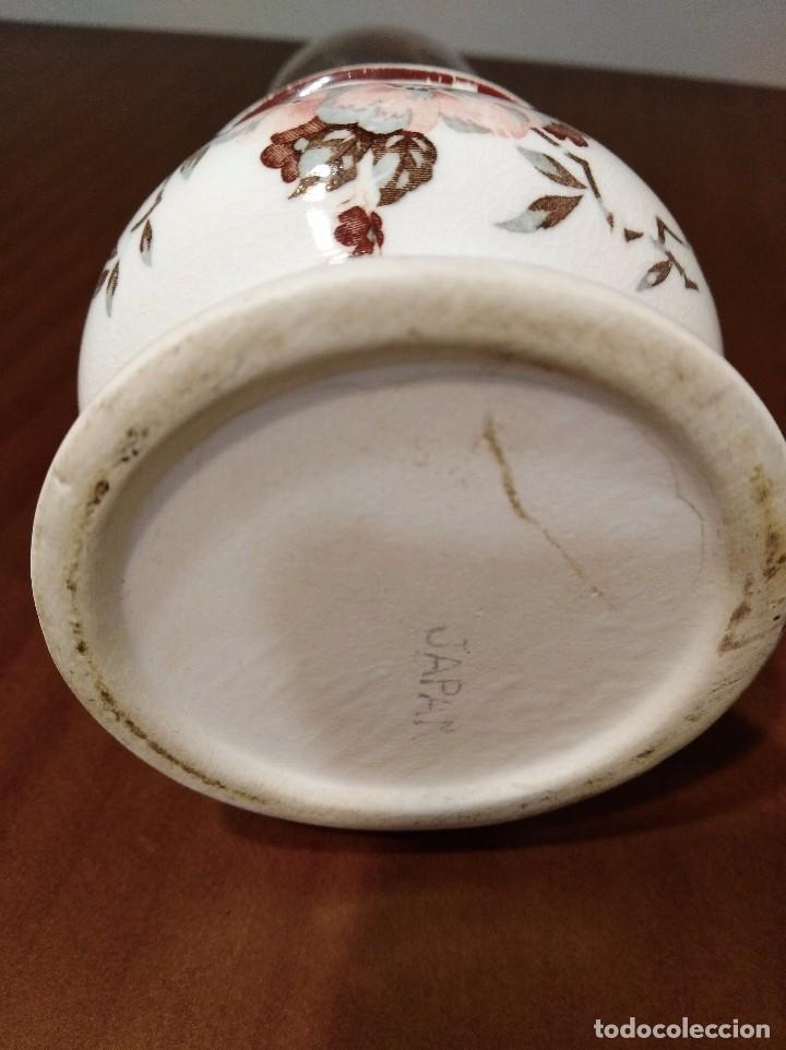 Antigüedades: ANTIGUO QUINQUE CERAMICA JAPONESA - Foto 5 - 104695327