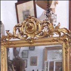 Antigüedades: ANTIGUO ESPEJO EN PAN DE ORO. Lote 104695843